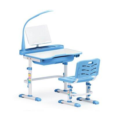 Комплект парта и стульчик Evo-kids Evo-17 (с лампой) голубой производства Mealux - главное фото