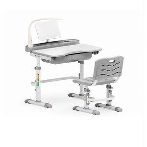 Комплект парта и стульчик Evo-kids Evo-17 (с лампой) серый