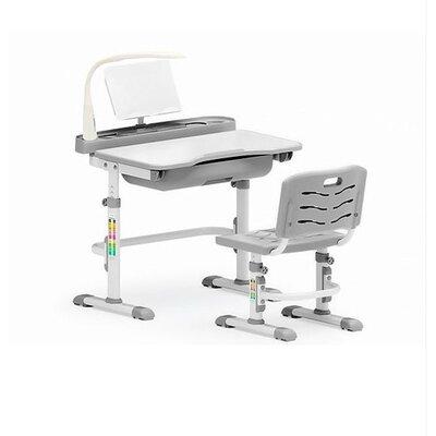 Комплект парта и стульчик Evo-kids Evo-17 (с лампой) серый производства Mealux - главное фото
