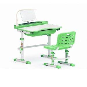 Комплект парта и стульчик Evo-kids Evo-17 (с лампой) зеленый