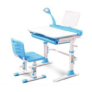 Комплект парта и стульчик Evo-kids Evo-19 (с лампой) голубой