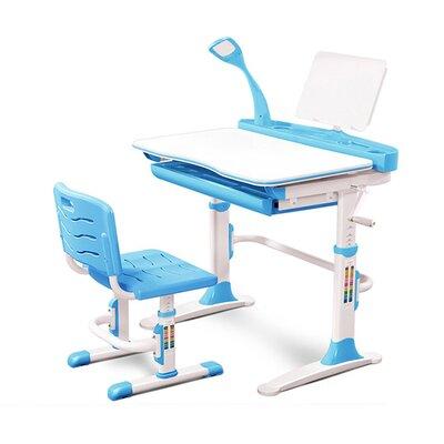 Комплект парта и стульчик Evo-kids Evo-19 (с лампой) голубой производства Mealux - главное фото