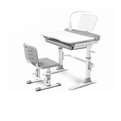 Комплект парта и стульчик Evo-kids Evo-19 (с лампой) серый производства Mealux - главное фото