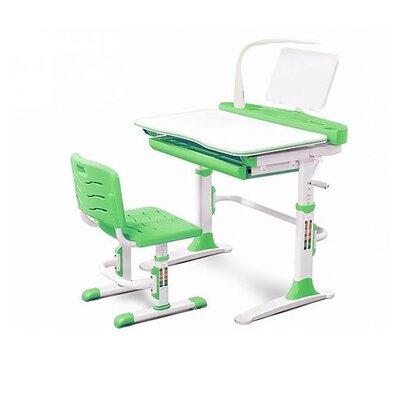 Комплект стола и стульчика Evo-kids Evo-19 с лампой зеленый производства Mealux - главное фото