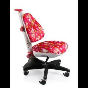 Детское кресло Mealux Conan RZ обивка красная с цветочками