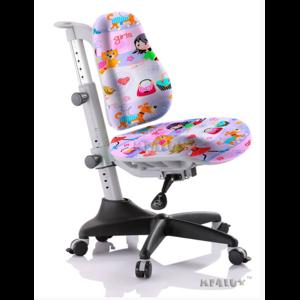 Детское кресло Mealux Match GL обивка сиреневая с девочками