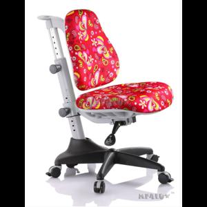 Детское кресло Mealux Match  RZ обивка красная с листочками