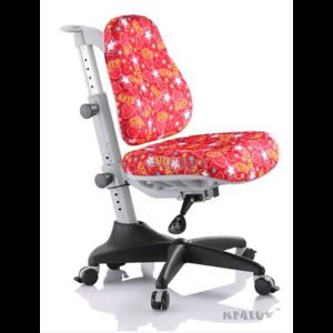 Детское кресло Mealux Match ST обивка красная со звездочками