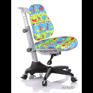Детское кресло Mealux Match GR3 обивка зеленая со зверятами