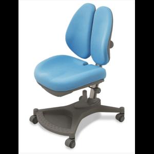 Кресло Mealux Neapol c двойной спинкой / обивка голубая
