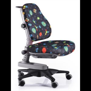 Детское кресло Mealux Newton GB обивка черная с жучками