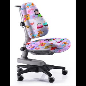 Детское кресло Mealux Newton GL обивка сиреневая с девочками