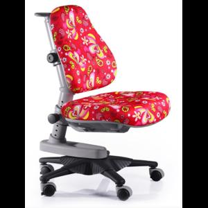 Детское кресло Mealux Newton RZ обивка красная с листочками