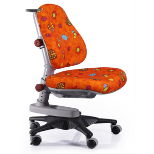 Детское кресло Mealux Newton RO обивка оранжевая с жучками