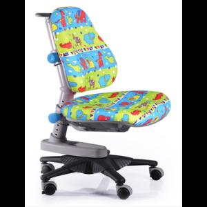 Детское кресло Mealux Newton GR3 обивка зеленая со зверятами