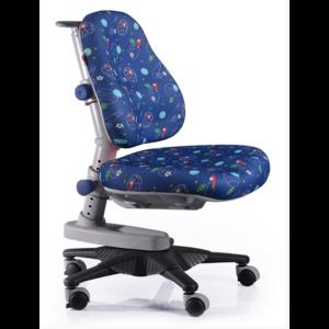 Детское кресло Mealux Newton F обивка синяя с мячиками