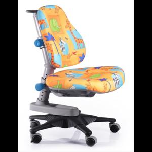 Детское кресло Mealux Newton GR1 обивка желтая со зверятами