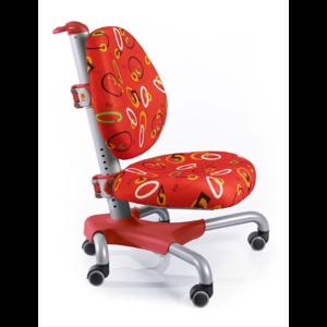 Детское кресло Mealux Nobel Y-517 SR серебристый металл / обивка красная с кольцами