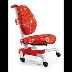 Детское кресло Mealux Nobel Y-517 WR белый металл / обивка красная с кольцами