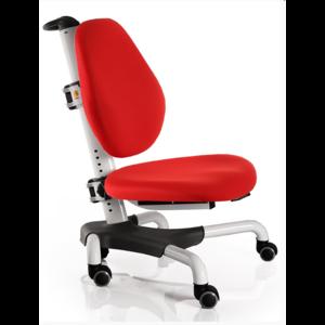 Детское кресло Mealux Nobel Y-517 WKR белый металл / обивка  красная