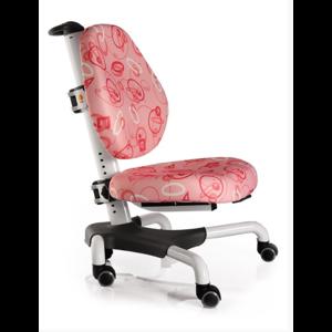 Детское кресло Mealux Nobel Y-517 WP белый металл / обивка розовая с кольцами