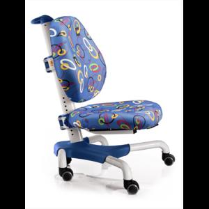 Детское кресло Mealux Nobel Y-517 WB белый металл / обивка синяя с кольцами