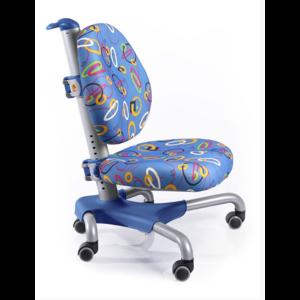 Детское кресло Mealux Nobel SB серебристый металл / обивка синяя с кольцами