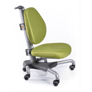 Детское кресло Mealux Nobel Y-517 SKZ серебристый металл / обивка зеленая