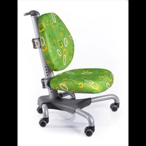 Детское кресло Mealux Nobel Y-517 SZ серебристый металл / обивка зеленая с кольцами