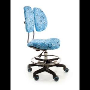 Детское кресло Evo-kids Simba BO обивка синяя с кольцами