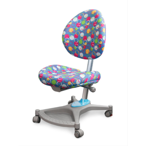 Детское кресло Mealux Neapol ABK обивка голубая с шариками