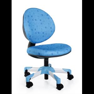 Детское кресло Mealux Vena Y-120 BS обивка голубая в квадратики