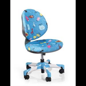Детское кресло Mealux Vena Y-120 BN обивка голубая со зверятами