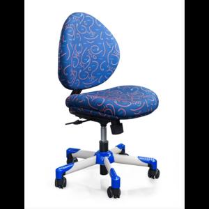 Детское кресло Mealux Verona B обивка синяя с рисунком