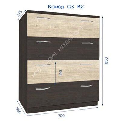 Комод комбинированный 3 К2 производства Мебель-Сич - главное фото