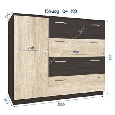 Комод комбинированный 4 К3 производства Мебель-Сич - главное фото