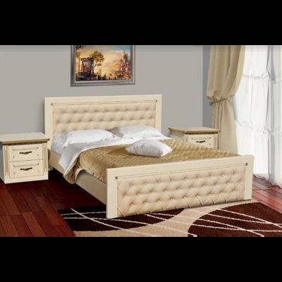 Двуспальная кровать Фридом из дуба