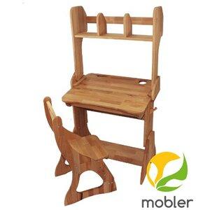 Комплект парта Растишка,стул и надстройка (ширина 60)