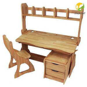 Комплект парта Растишка,стул,надстройка и тумба (ширина 120)