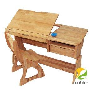 Комплект парта Растишка Lux и стул (ширина 120)