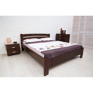 Двуспальная кровать Милана Люкс с резьбой и патиной