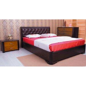 Двуспальная кровать Милена мягкая спинка (ромбы)