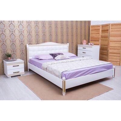 Двуспальная кровать Монако мягкая спинка квадраты