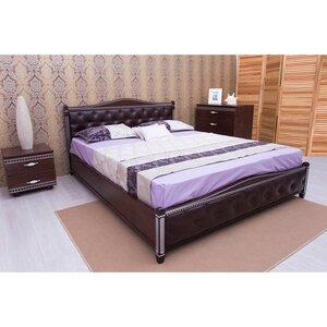 Двуспальная кровать Прованс с фрезеровкой (мягкая спинка ромбы)