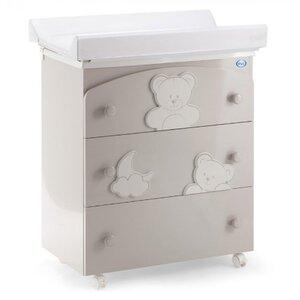 Пеленатор Pali Georgia Glossy Warm Grey нежно серый