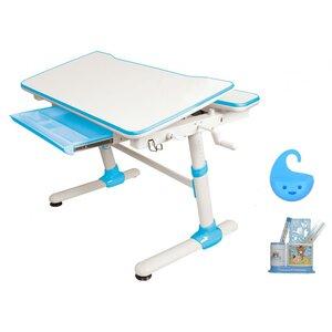 Детский стол Evo-Kids Duke Blue - столешница белая / вставки голубые