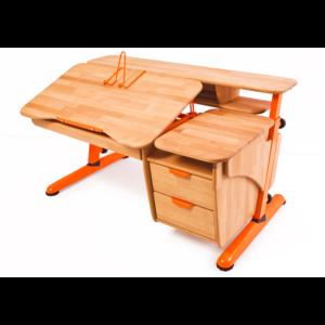 Детский стол Эргономик с тумбой из дерева