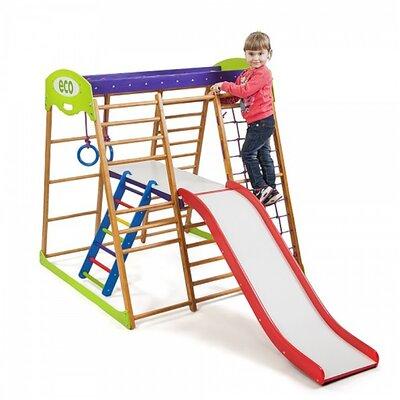 Детский спортивный комплекс для квартиры Карамелька Plus 2 производства SportBaby - главное фото