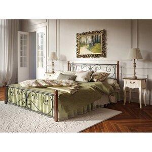 Двуспальная кровать Крокус на деревянных ногах