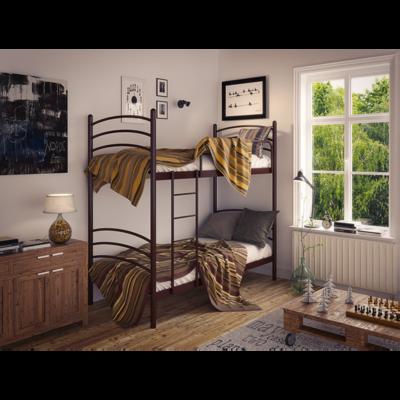 Двухъярусная металлическая кровать Маранта 80*190